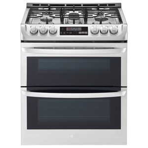 LG Appliances Gas Ranges 6.9 Cu.Ft. Wi-Fi Enabled Gas Double Oven