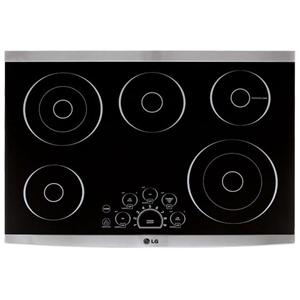 "LG Appliances LG Studio Series 30"" Built-In Electric Cooktop"