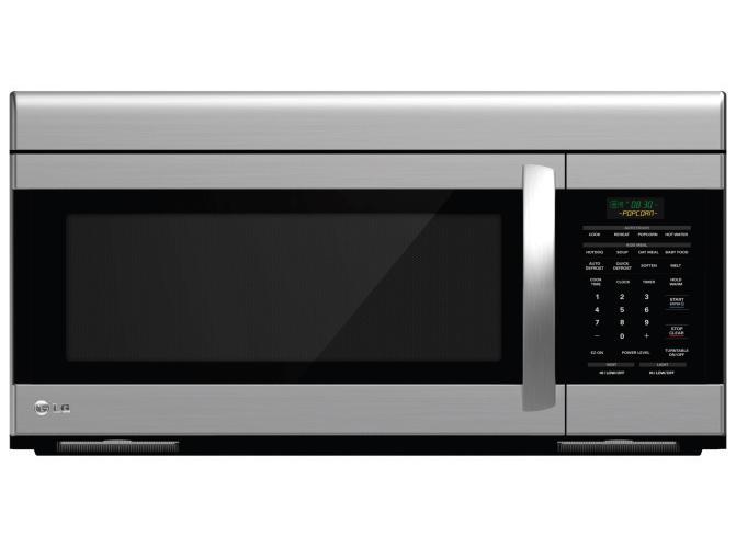LG Appliances Microwaves 1.6 Cu. Ft. Over-the-Range Microwave - Item Number: LMV1683ST