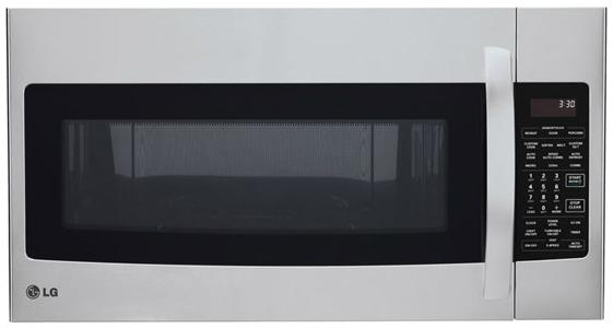 LG Appliances Microwaves 1.7 Cu. Ft. Over-the-Range Microwave - Item Number: LMVH1711ST