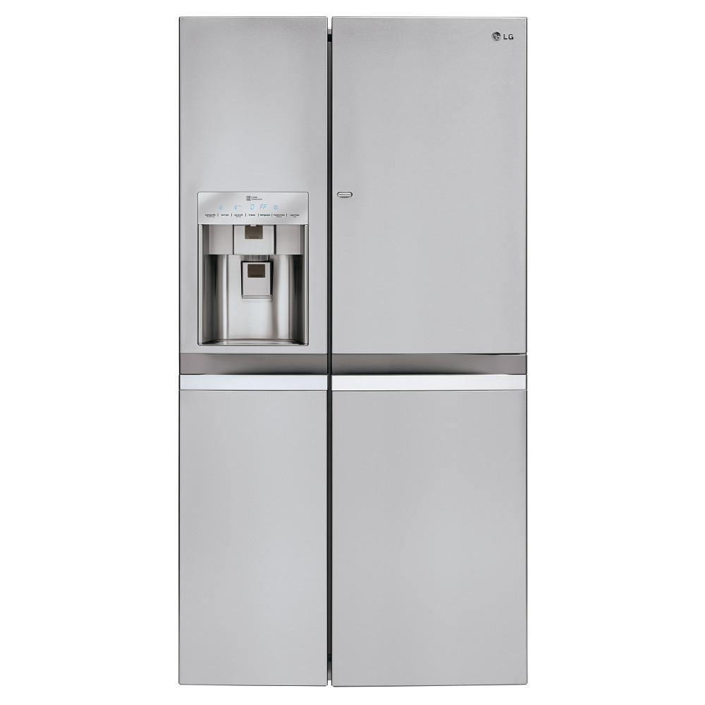 LG Appliances Side by Side Refrigerators 21.6 Cu. Ft. Side-by-Side Refrigerator - Item Number: LSC22991ST