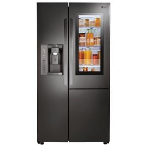 LG Appliances Side by Side Refrigerators 22 Cu.Ft. Side-By-Side Counter-Depth Fridge