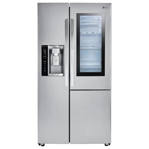 LG Appliances Side by Side Refrigerators 22 Cu.Ft. Counter-Depth Refrigerator