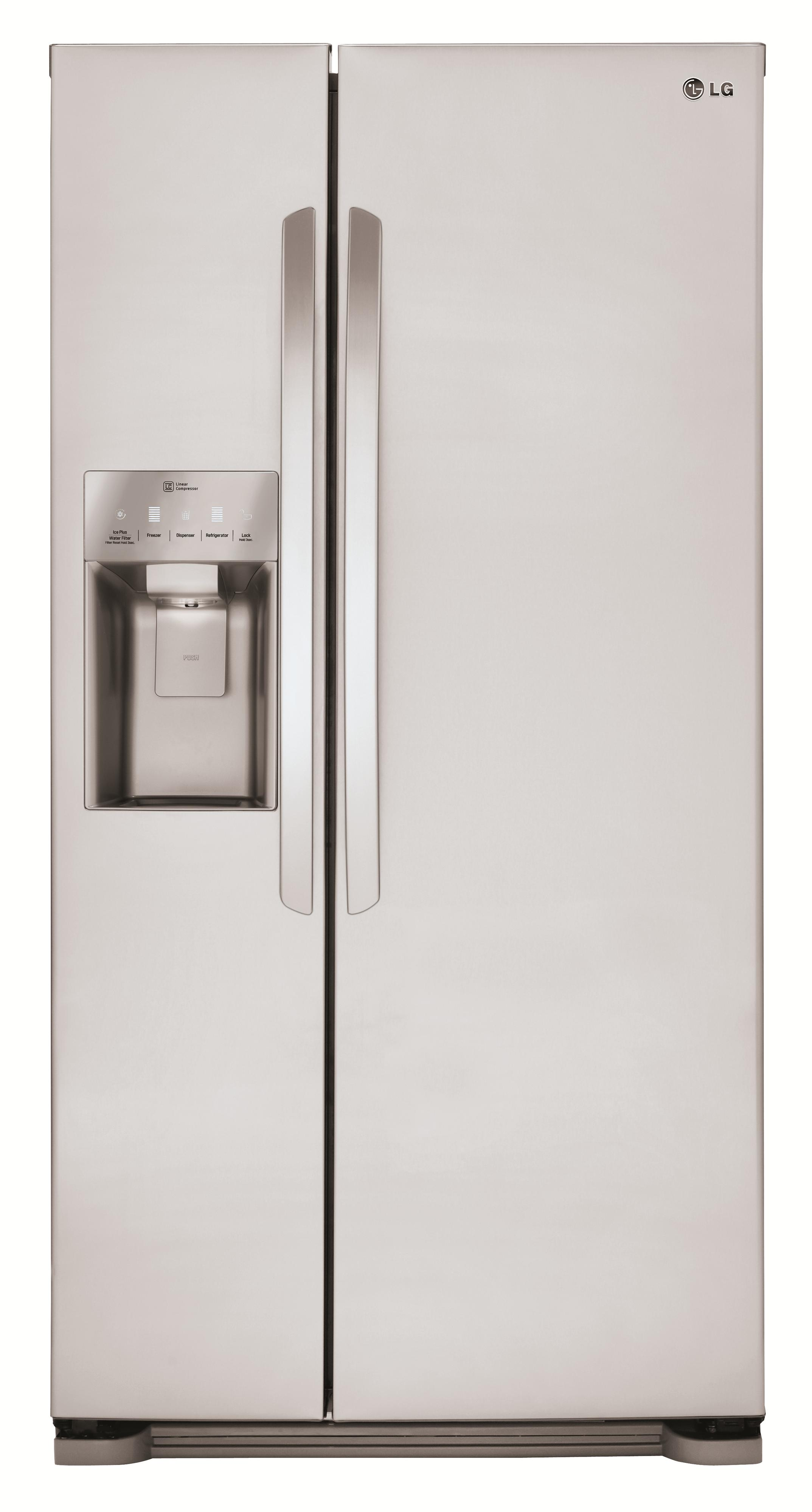 LG Appliances Side by Side Refrigerators 22 cu. ft. Side by Side Refrigerator - Item Number: LSXS22423S