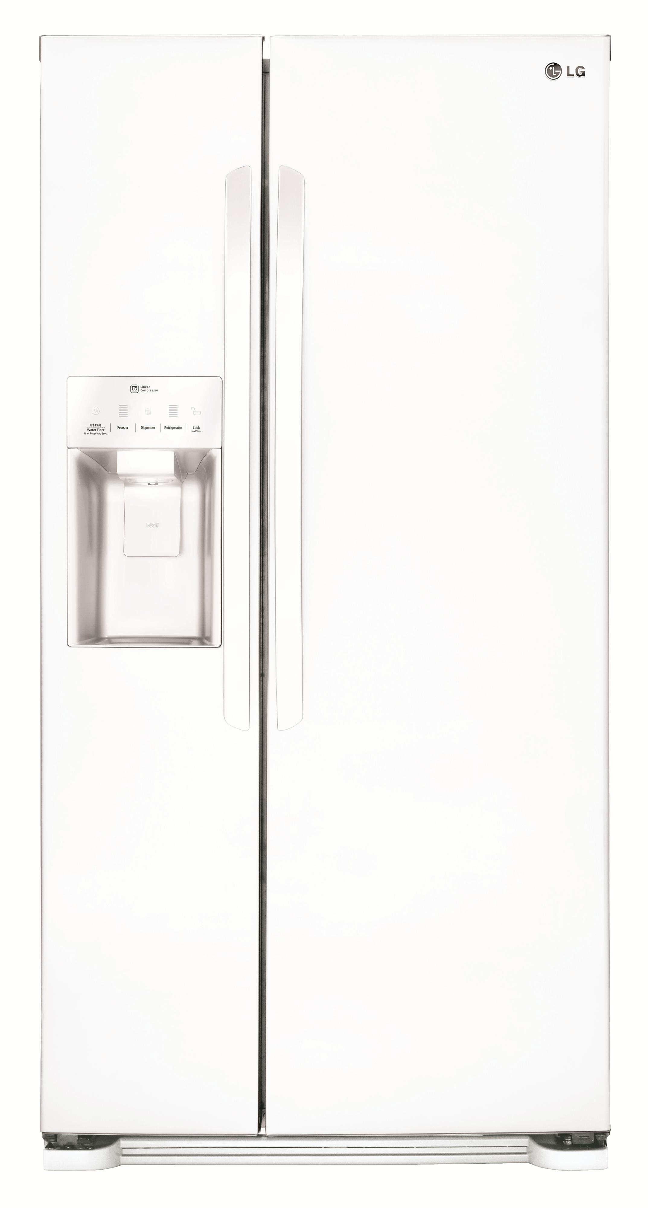 LG Appliances Side by Side Refrigerators 22 cu. ft. Side by Side Refrigerator - Item Number: LSXS22423W