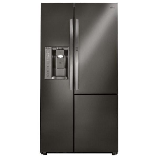 LG Appliances Side by Side Refrigerators- LG 26 cu. ft. Side by Side 3 Door Refridgerator - Item Number: LSXS26366D