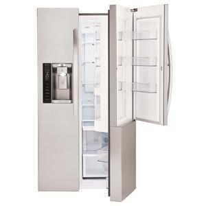 LG Appliances Side by Side Refrigerators 26 cu. ft. Side by Side 3 Door Refridgerator