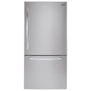 "LG Appliances Top-Freezer Refrigerator 24 Cu. Ft 33"" Wide Top Freezer Refrigerator"