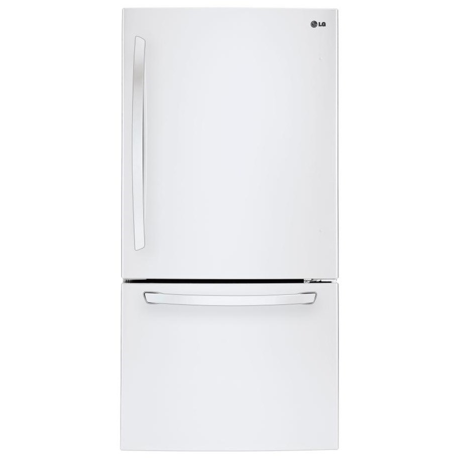 "LG Appliances Top-Freezer Refrigerator 24 Cu. Ft 33"" Wide Top Freezer Refrigerator - Item Number: LDCS24223W"