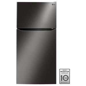 "LG Appliances Top-Freezer Refrigerator - LG 24 Cu. Ft 33"" Wide Top Freezer Refrigerator"
