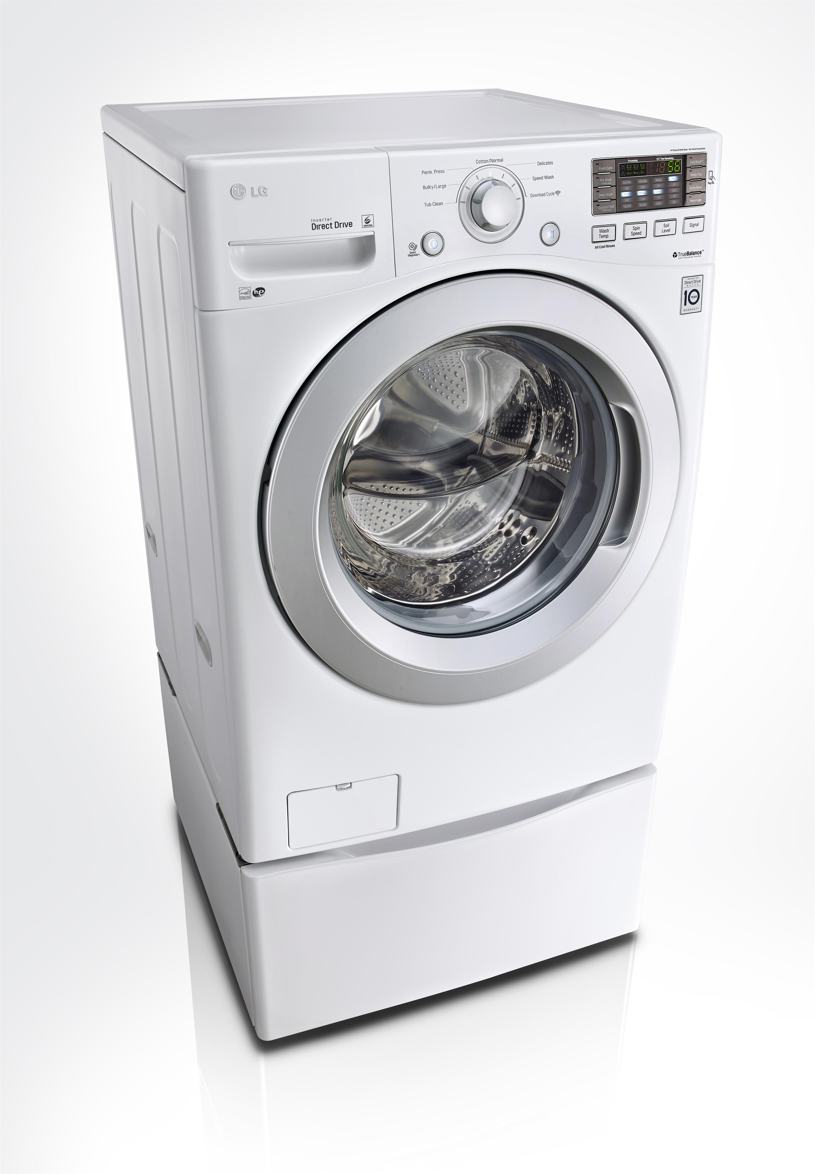 LG Appliances Washers 4.3 Cu. Ft. Front Load Washer - Item Number: WM3170CW