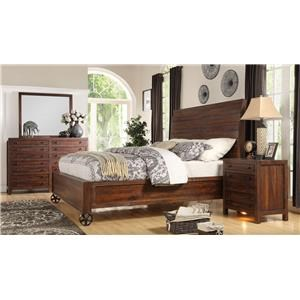 LG Interiors Brooklyn Brown Wood King Bed