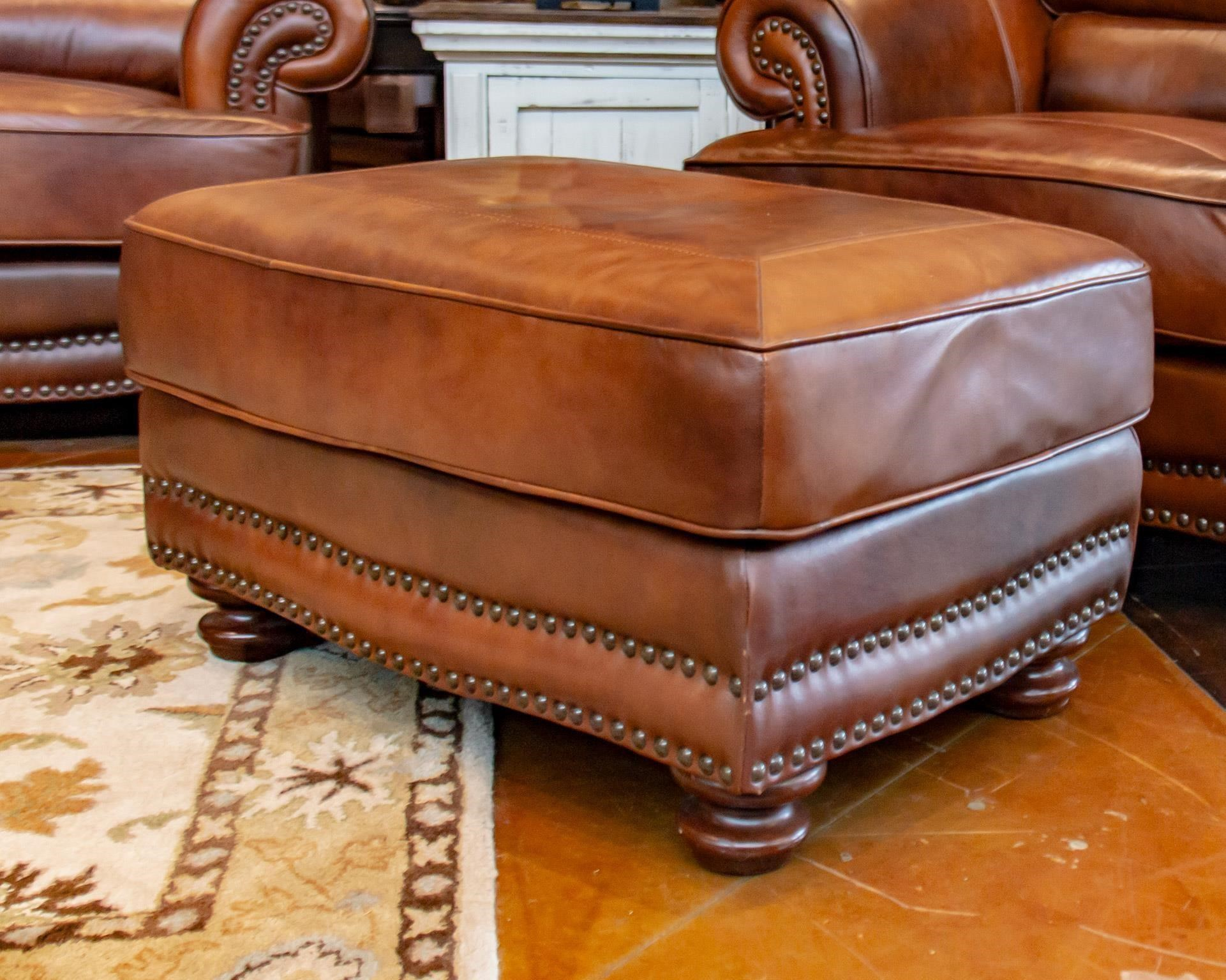 Astonishing Cowboy Leather Ottoman Squirreltailoven Fun Painted Chair Ideas Images Squirreltailovenorg
