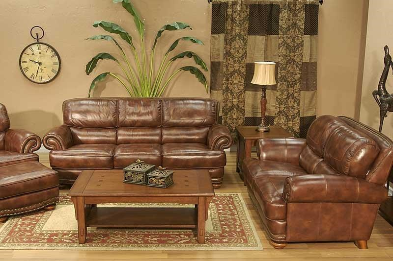 4 Piece Leather Sofa Group