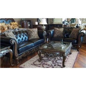 LG Interiors D5687 Chelsey Leather Sofa and Loveseat