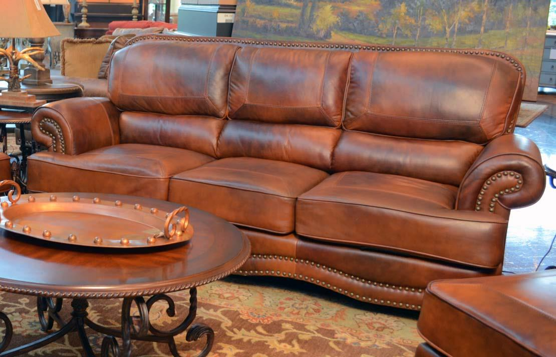 Lg Interiors Cowboy D6266 01 04234 Cowboy Leather Sofa Great American Home Store Sofas