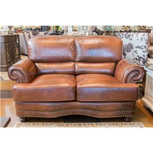 LG Interiors Cowboy Leather Loveseat