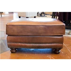 LG Interiors Cowboy Leather Ottoman