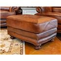 LG Interiors Cowboy Leather Ottoman - Item Number: D6266-04