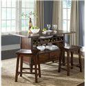 Liberty Furniture Campside Island PubTable w/ 2 Sawhorse Barstools - Item Number: 121-IT3660B+IT3660T+2xB0000024