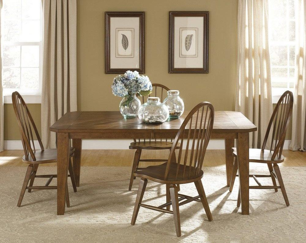 Liberty Furniture Bunker Hill 5PC Dining Table & Chair Set - Item Number: 382-T4408+4x382C1000S