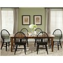 Liberty Furniture Bunker Hill 7PC Dining Table & Chair Set - Item Number: 382-T4408+4x482C1000S+2x482C1000A