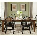 Liberty Furniture Bunker Hill 5PC Dining Table & Chair Set - Item Number: 382-T4408+4x482C1000S