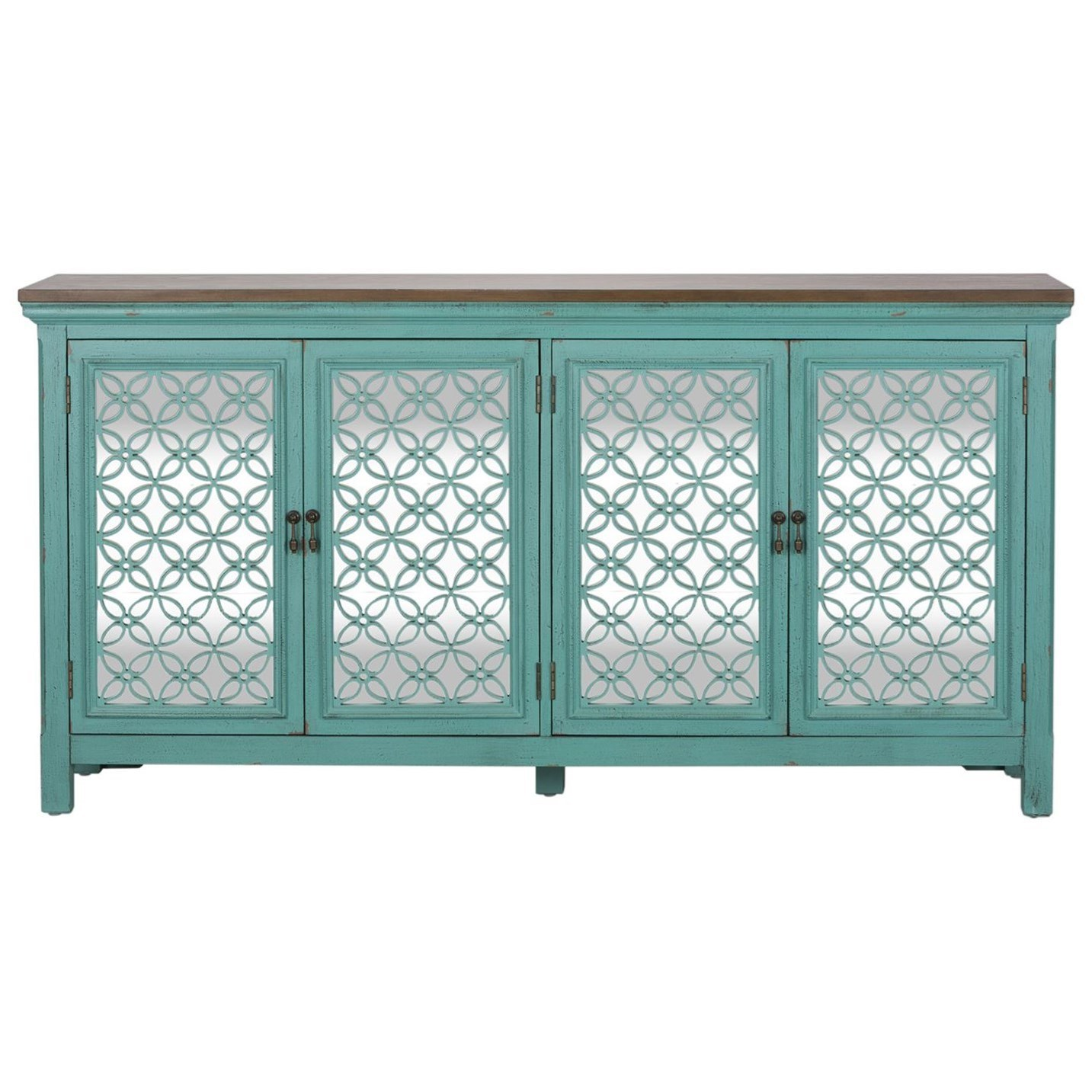 Kensington 4 Door Accent Chest by Liberty Furniture at Upper Room Home Furnishings