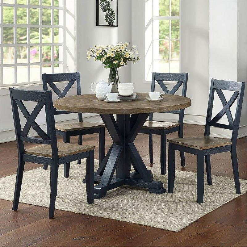 519 Navy Table x 4 chairs