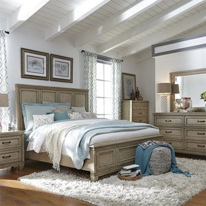 Queen Panel Bed, Dresser & Mirror, Chest, N/