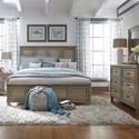 Vendor 5349 573 Queen Panel Bed, Dresser & Mirror, N/S  - Item Number: 573-BR-QPBDMN