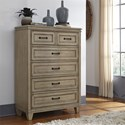 Liberty Furniture 573 Transitional 5 Drawer Chest with Wood Framed Drawer Fronts