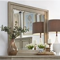 Liberty Furniture 573 Transitional Beveled Glass Mirror with Wooden Frame