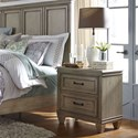 Liberty Furniture 573 Transitional 2 Drawer Night Stand with Wood Framed Drawer Fronts