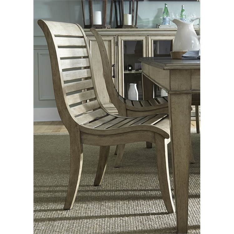 Liberty Furniture 573 Slat Back Side Chair - Item Number: 573-C1500S