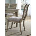 Liberty Furniture 573 Slat Back Side Chair with Upholstered Seat - Item Number: 573-C1501S