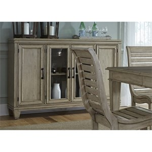 Liberty Furniture 573 Buffet with Glass Doors