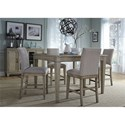 Liberty Furniture 573 5 Piece Gathering Table Set  - Item Number: 573-DR-5GTS