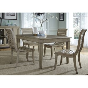 Vendor 5349 573 5 Piece Leg Table Set