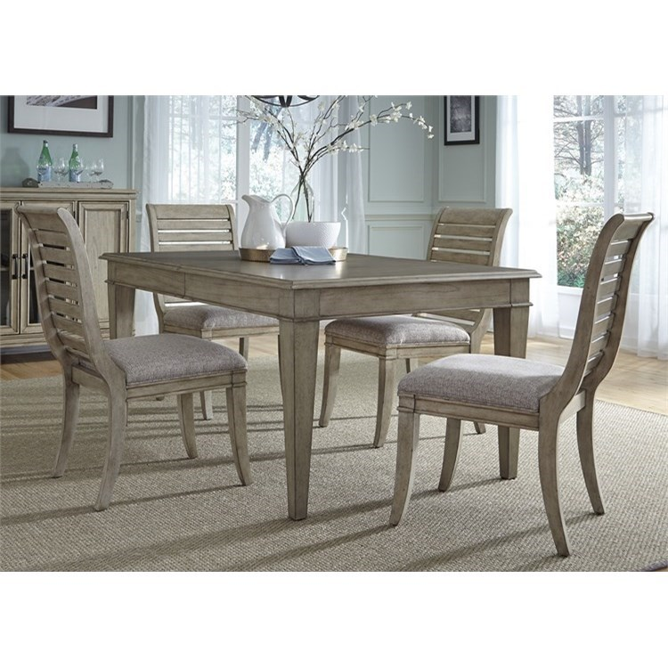 Liberty Furniture 573 5 Piece Rectangular Table Set  - Item Number: 573-DR-5RLS