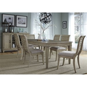 Vendor 5349 573 7 Piece Rectangular Table Set