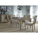 Liberty Furniture 573 7 Piece Rectangular Table Set  - Item Number: 573-DR-7RLS