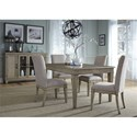 Liberty Furniture 573 5 Piece Rectangular Table Set  - Item Number: 573-DR-O5RLS