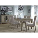 Liberty Furniture 573 7 Piece Rectangular Table Set  - Item Number: 573-DR-O7RLS
