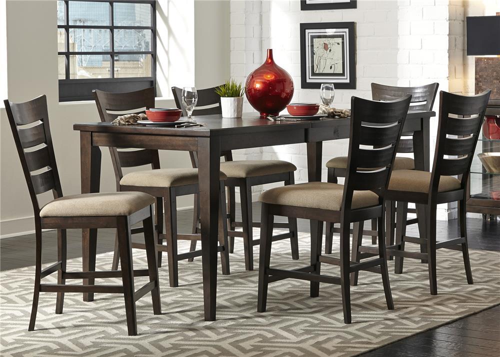 Liberty Furniture Pebble Creek 7 Piece Gathering Table Set - Item Number: 476-CD-7GTS
