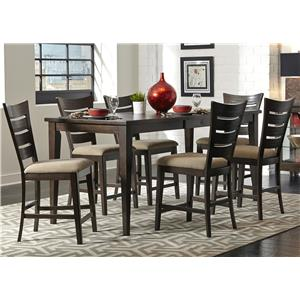 Liberty Furniture Pebble Creek 7 Piece Gathering Table Set
