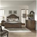 Liberty Furniture Haven Hall King Panel Bed, Dresser, Mirror & Nightstand - Item Number: GRP-685-KINGSUITE