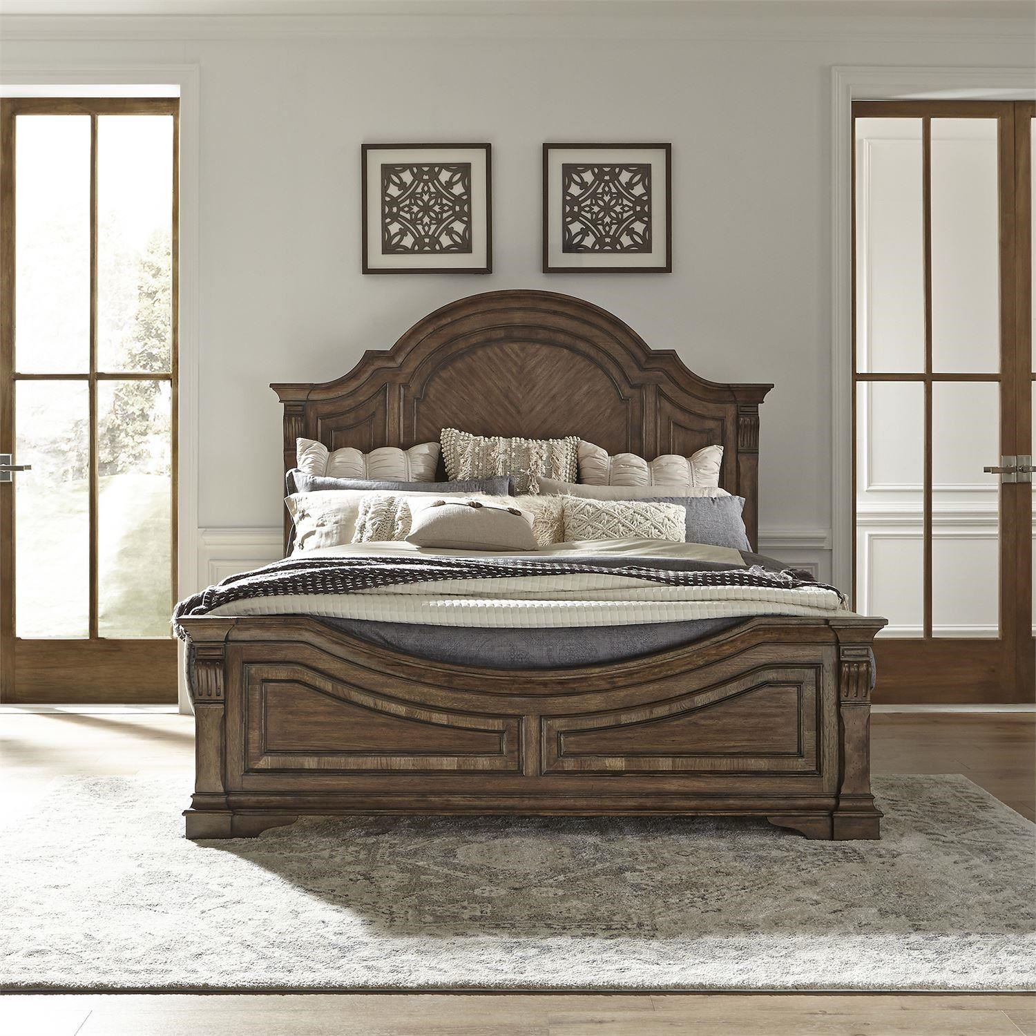 Queen Panel Bed w/Rails