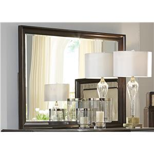 Liberty Furniture Manhattan Beveled Wood Frame Mirror