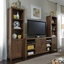 Liberty Furniture Shadow Lake Contemporary Entertainment Center with Adjustable Shelves